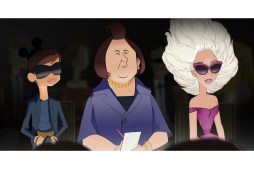 Bryan Boy, International Herald Tribune editor Suzy Menkes and Lady Gaga