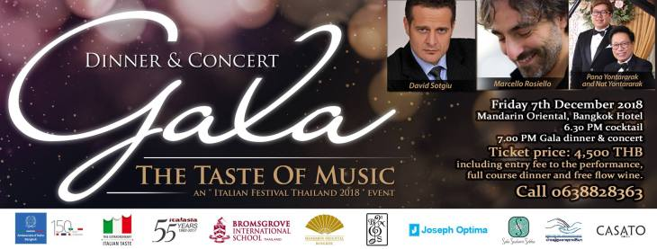 Gala Dinner & Concert The Taste Of Music 2018